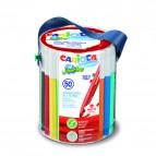 Pennarelli Jumbo - punta 6,0mm - colori assortiti - lavabili - Carioca - barattolo 50 pezzi