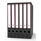 Gruppo registratori Sestetto - con 6 cartelle 3 lembi - 25,5x34,5 cm - dorso 23 cm - grigio - Rexel