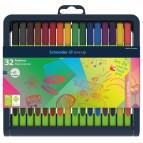 Fineliner Line-Up - punta 0,4mm - colori assortiti - Schneider - astuccio 32 colori