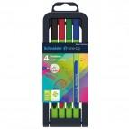 Fineliner Line-Up - punta 0,4mm - colori assortiti - Schneider - astuccio 4 colori