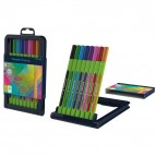 Fineliner Line-Up - punta 0,4mm - colori assortiti - Schneider - astuccio 8 colori