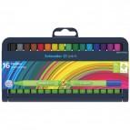 Fineliner Link-It - punta 0,4mm - colori assortiti - Schneider - astuccio 16 colori
