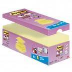 Blocchetto Post It Super Sticky Z Notes - giallo Canary - per dispenser - 76 x 76mm - 90 fogli - Post It - conf. 20 blocchi