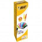 Penna a sfera Cristal Multicolor - punta 1,6mm - 10 colori assortiti  - Bic - conf. 20 pezzi