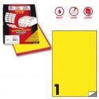 Etichetta adesiva C503 - permanente - 210x297 mm - 1 etichetta per foglio - giallo fluo - Markin - scatola 100 fogli A4