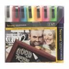 Marcatore a gesso liquido - punta media da 2,00-6,00mm - mix 8 colori - Securit - conf. 8 pezzi