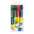 Marcatore Permanente Markers 100 - punta tonda 4,50mm  - astuccio 4 colori - Pilot