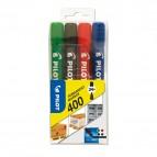 Marcatore Permanente Markers 400 - punta a scalpello 4,50mm  - astuccio 4 colori  - Pilot