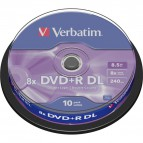 DVD Verbatim - DVD+R - 8,5 Gb - 8x - DL - Spindle - 43666 (conf.10)