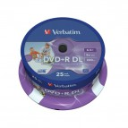 DVD Verbatim - DVD+R - 8,5 Gb - 8x - Printable - DL - Spindle - 43667 (conf.25)