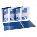 Raccoglitore personalizzabile Europa - 4 anelli quadri 65 mm - dorso 8 cm - 22x30 cm - blu - Favorit