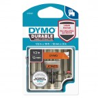 Nastro D1 Durable 1978367 - 12 mm x 3 mt - nero/arancio - Dymo