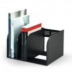Portariviste Optimo - scomparti regolabili - 30x25x18 cm - nero - Durable