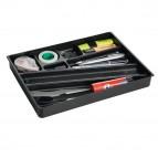 Vaschetta portaoggetti Idealbox per cassetti - 24x34x3,6 cm - nero - Durable