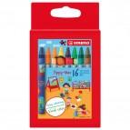 Pastelli a cera Yippy-Wax - colori assortiti - Stabilo -  astuccio 16 colori
