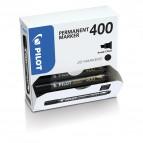 Scatola Marcatore Permanente Markers 400 - punta scalpello 4,5mm  - rosso - Pilot - conf. 15 pezzi +5 pezzi gratis