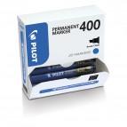 Scatola Marcatore Permanente Markers 400 - punta scalpello 4,50mm - blu - Pilot - conf. 15 pezzi +5 pezzi gratis