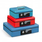 Cassetta portavalori Deluxe - 23x18,5x8 cm - blu - Iternet