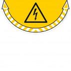 Adesivo segnalatore da terra Take Care - Rischio elettrico - 70x35 cm - CEP