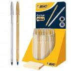 Cristal Shine - fusto oro/argento - Bic - expo 40 pezzi