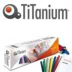 Dorsi per rilegatura - 6 mm - bianco - Titanium - scatola 25 pezzi