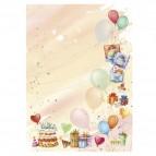 """Carta con stampa """"party"""" - A4 - 90 gr - Decadry - conf. 20 fogli"""