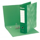 Registratore Essentials G74 - dorso 5 cm - protocollo 23x33 cm - verde - Esselte