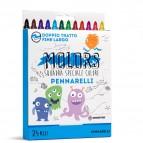 Astuccio 24 pennarelli Molors fine - colori assortiti - Osama