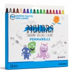 Astuccio 36 pennarelli Molors fine - colori assortiti - Osama
