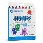 Astuccio 8 pennarelli Molors Magik - colori assortiti - Osama