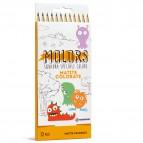Matite colorate Molors - Osama - Astuccio 12 pastelli colorati