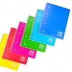Maxiquaderno One Color - A4 - quadretto 4mm - 80 fogli - 80gr - spiralato - copertina ppl - Blasetti