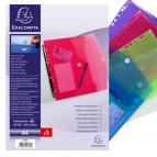 Busta forata con chiusura in velcro - PPL - 24x32 cm - colori assortiti - Exacompta
