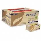 Asciugamani piegati a Z EcoNatural - 2 veli - 22 gr - 23,5x23 cm - goffratura corda - avana - Lucart - conf. 220 pezzi