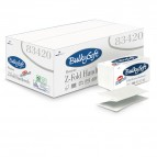 Asciugamani piegati a Z - 2 veli - goffratura micro - 23x24 cm - 20 gr - bianco - BulkySoft - conf. Easypack da 144 pezzi