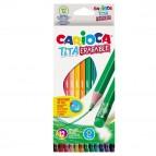 Pastelli colorati Tita cancellabile - Carioca - Astuccio 12 matite