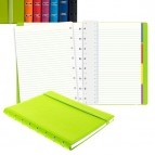Notebook - similpelle - rosso - A5 - a righe - 56 pagine - Filofax