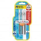 Refill Inkjoy Roller Liquid Stick - punta 0,5mm  - nero - Papermate - conf. 3 pezzi