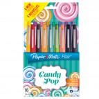 Pennarello Flair Nylon punta feltro - punta 1,10mm - Papermate - astuccio 16 colori assortiti Candy Pop