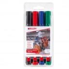 Marcatore permanente 300 - punta conica da 1,50mm a 3,00mm - astuccio 4 colori  - Edding