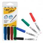 Pennarello Whiteboard Marker Velleda 1741 Bic  - punta tonda 1,4mm - astuccio 4 colori - Bic