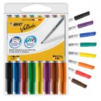 Pennarello Whiteboard Marker Velleda 1741  - punta tonda 1,4mm - astuccio 8 colori assortiti - Bic