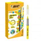 Evidenziatore Flex - giallo - Bic - conf.12 pezzi