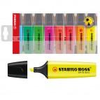 Evidenziatore Boss Original - punta a scalpello - tratto da 2,0-5,0mm - astuccio 8 colori assortiti  - Stabilo