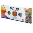 Pastelli colorati Stilnovo - Lunghezza 18cm e mina 3,3mm - Giotto - astuccio 50 pastelli