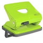 Perforatore 825 - massimo 25 fogli - 2 fori - verde - passo 8 cm - Rapesco