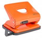 Perforatore 825 - massimo 25 fogli - 2 fori - passo 8 cm - arancio - Rapesco