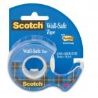 Nastro adesivo con chiocciola Scotch® Wall Safe - removibile - 19 mm x 16,5 m - trasparente - Scotch®