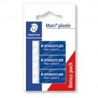 Gomma Mars Plastic - bianca - Staedtler - conf. 3 pezzi