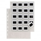 Buste forate porta diapositive Atla F Dia 20 - 20 spazi 5,5x5,5 cm - trasparente - Sei Rota - conf. 10 pezzi